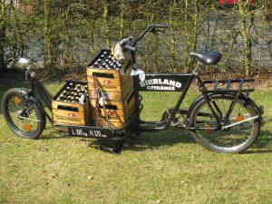 Im Sommer liefert das Bierland seine Ware auch gerne im Lastenfahrrad aus.