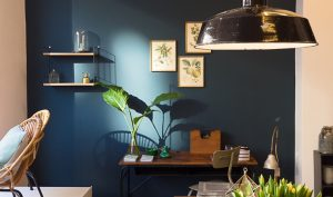 Grünblaugrau Interieur