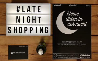Kleine Läden in der Nacht | Auftakt zum Late Night Shopping